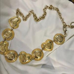 ALDO gold tone metal belt